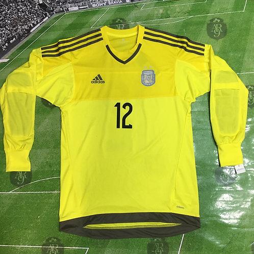 Camiseta Arquero AFA 2015 #12 Guzmán
