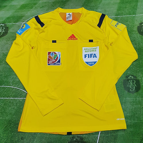 Camiseta Amarilla Asistente Referí Mundial Femenino 2015