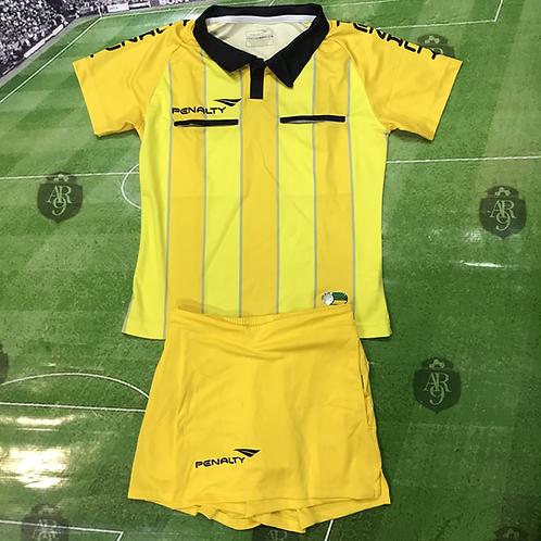 Conjunto Arbitro Femenino Amarillo /Rayas