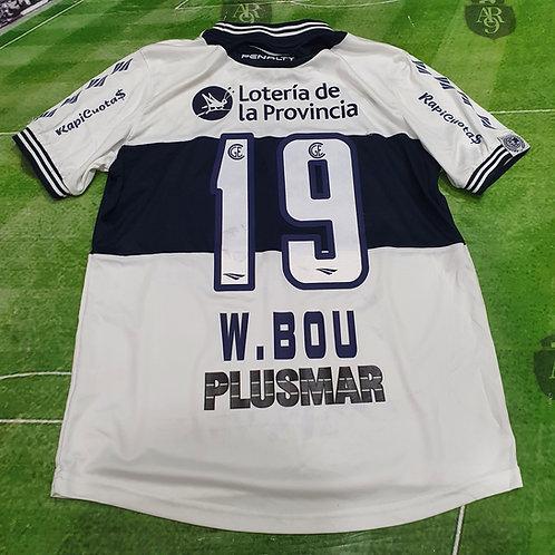 Camiseta Gimnasia y Esgrima de la Plata 2014 #19 W. Bou