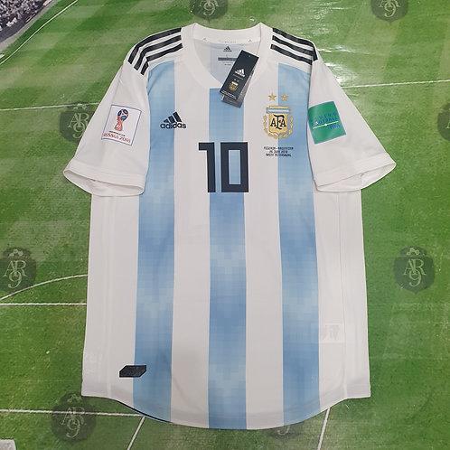 Camiseta Titular AFA Mundial 2018 #10 Messi
