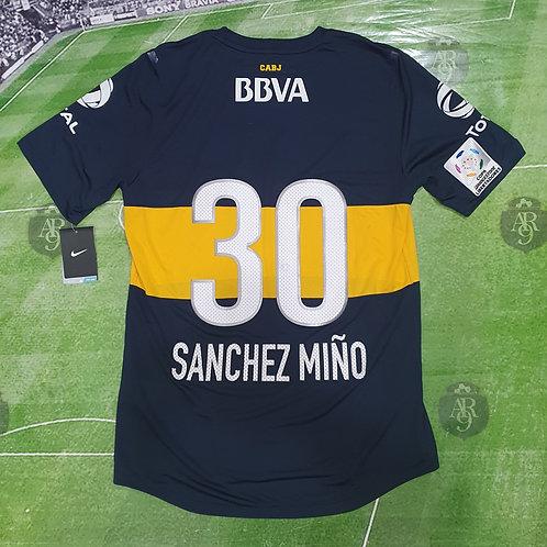 Camiseta Titular Boca Juniors Copa Libertadores 2013 #30 Sanchez Miño