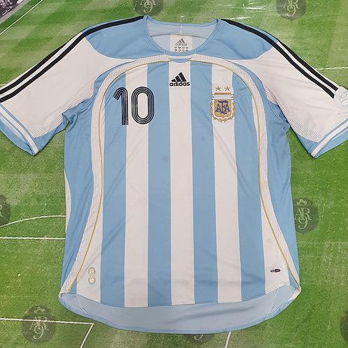 Camiseta Titular AFA 2006 #10 Riquelme