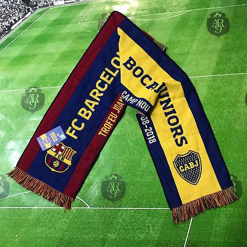 Bufanda Boca vs Barcelona Trofeo Joan Gamper 2018