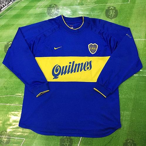 Camiseta Boca Juniors Titular 2000 Manga Larga