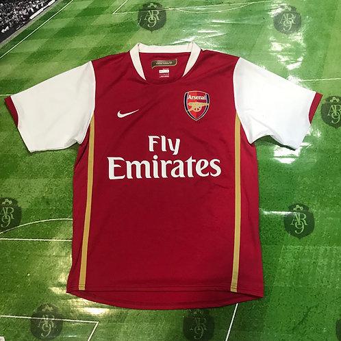 Camiseta Arsenal 2007 Titular