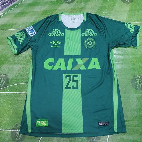 Camiseta Titular Chapecoense Copa Sudamericana #25 Kempes