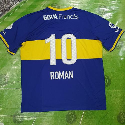 Camiseta Titular Boca Juniors #10 Román 2013/14