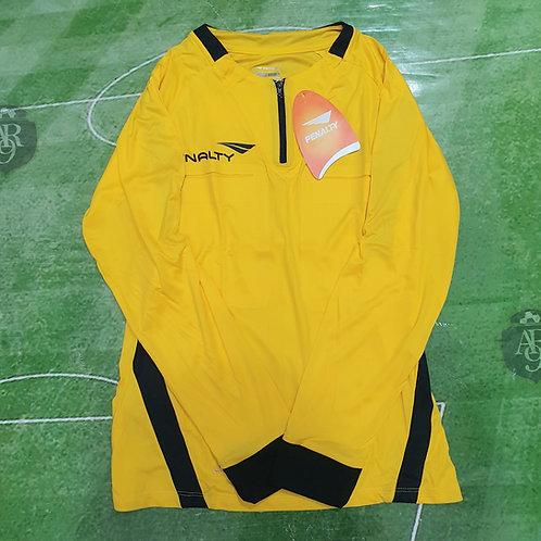 Camiseta Arbitro Femenino Manga Larga Penalty Amarillo