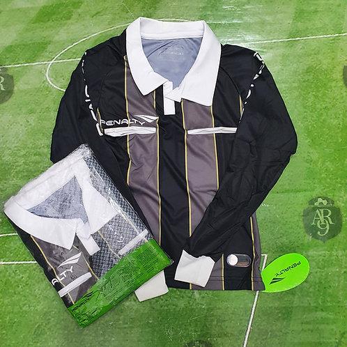 Camiseta Arbitro Femenino Manga Larga Penalty Negro