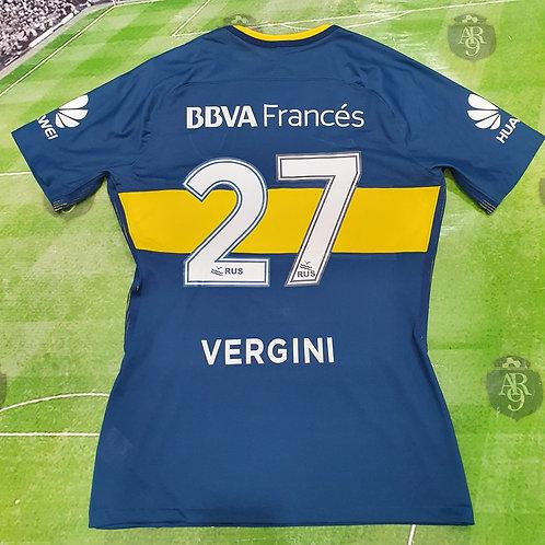 Camiseta Titular Boca Juniors 2017 #27 Vergini