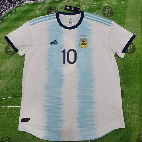 Camiseta Titular AFA 2019 #10 Messi