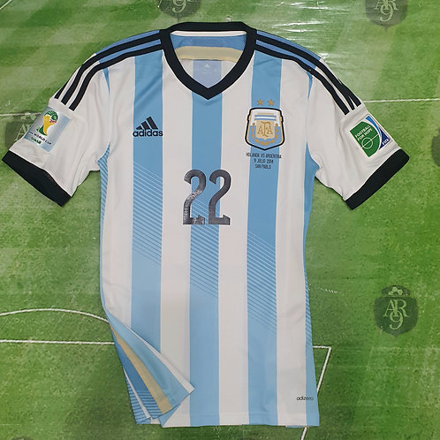 Camiseta AFA Mundial 2014 vs Holanda #22 Lavezzi