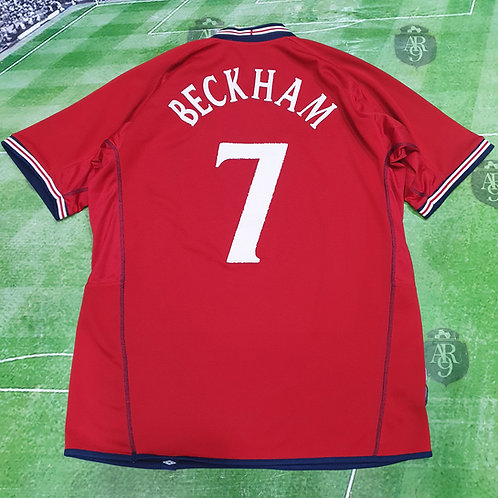 Camiseta Alternativa Inglaterra 2004 #7 Beckham