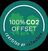 Bæredygtig bedemand CO2 emblem