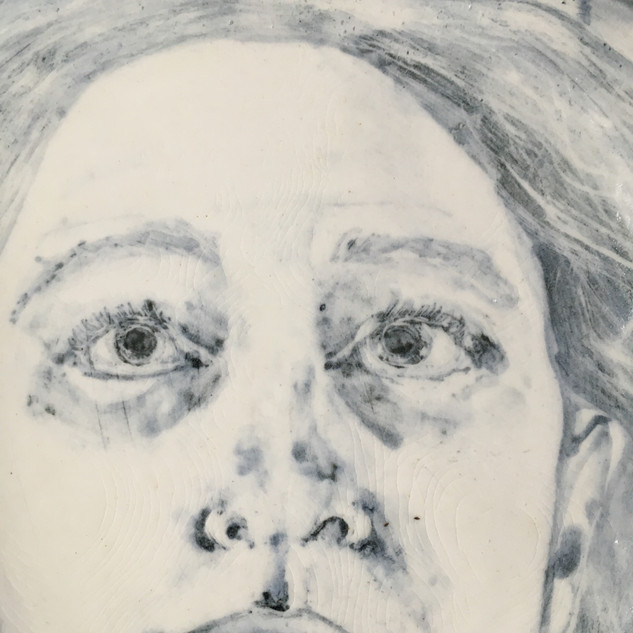Self Portrait with Trees, detail