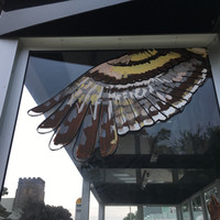 """""""The Commute,"""" Bus Shelter, detail"""