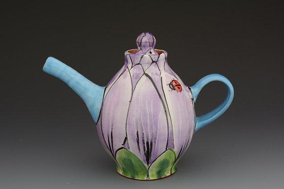 Flower Mini Teapot with Ladybug