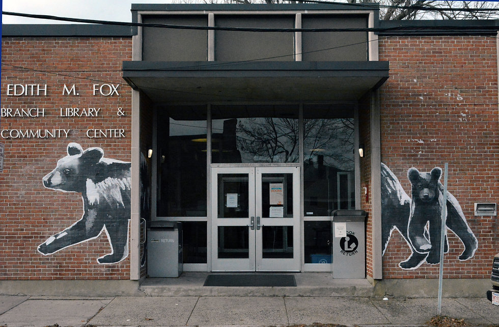 Fox Library Entrance Bears.jpg