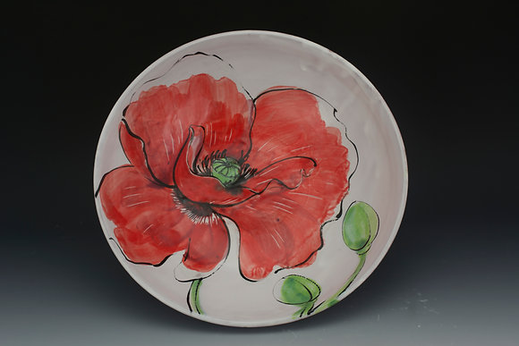 Single Poppy Serving Bowl