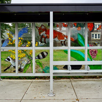 """""""The Commute,"""" Bus Shelter, Arlington Flora and Fauna"""