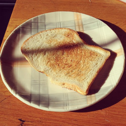 Instagram - Breakfast on my new Kyla Toomey  Plate with matching shadow .jpg