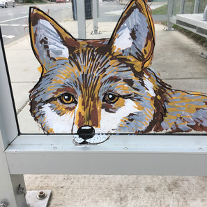 """The Commute,"" Bus Shelter, detail"