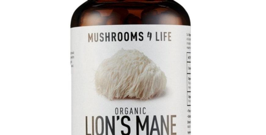 ORGANIC LION'S MANE MUSHROOM – 60 CAPSULES