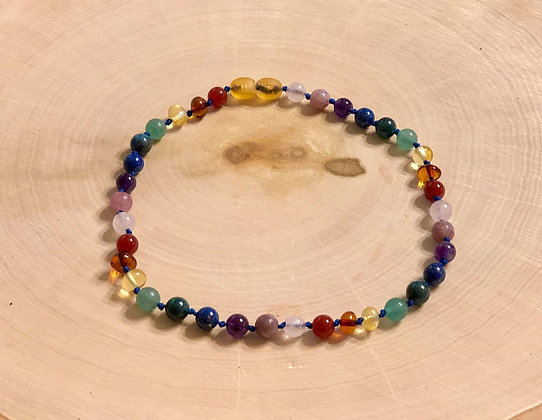 12.5 Inch Rainbow Necklace