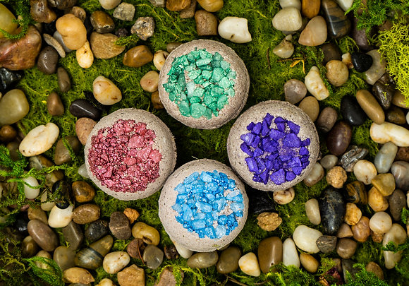 Gemstone Geode Herbal Bath Bombs