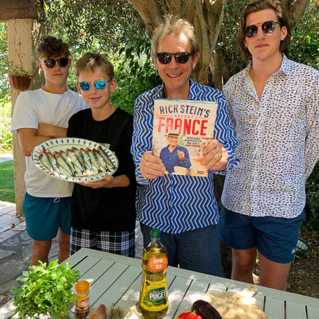 Grilled Sardines with a Tomato, Garlic and Thyme Dressing