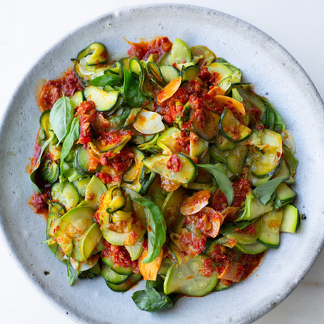Super-Soft Courgettes With Harissa and Lemon