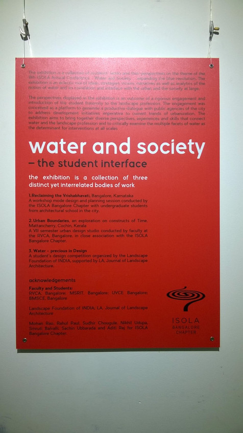Water & Society - ISOLA + BMSCE student's workshop engagement