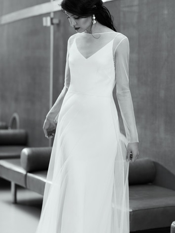 Olive dress front