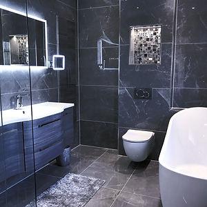 Bathroom installation with wet area Heps