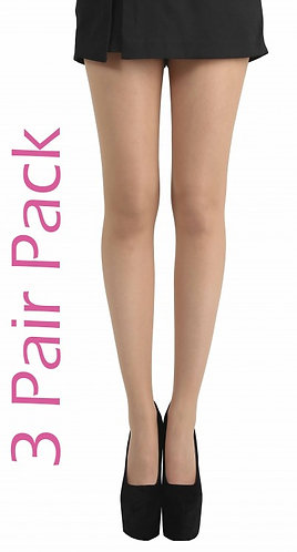 Pamela Mann 15 Denier 3 Pair Pack Tights (Nude) 6 Pack