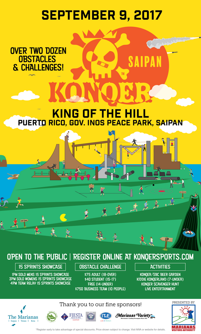KONQER SAIPAN EARLY BIRD PRICING ENDS JULY 31