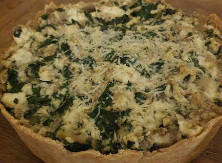 Gluten Free, Low Carb Spinach Ricotta Pie