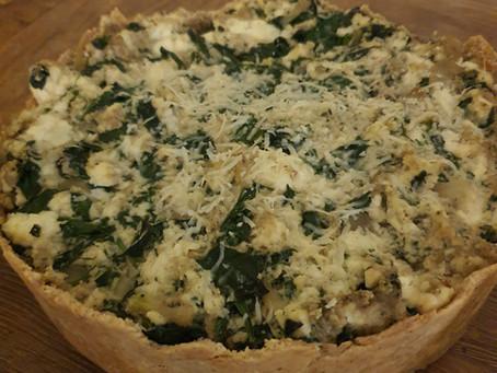 Gluten Free, Low Carb Spinach Ricotta Pie