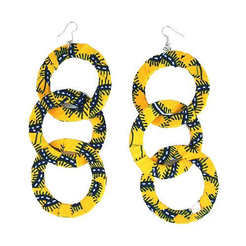 Yellow Ankara earrings