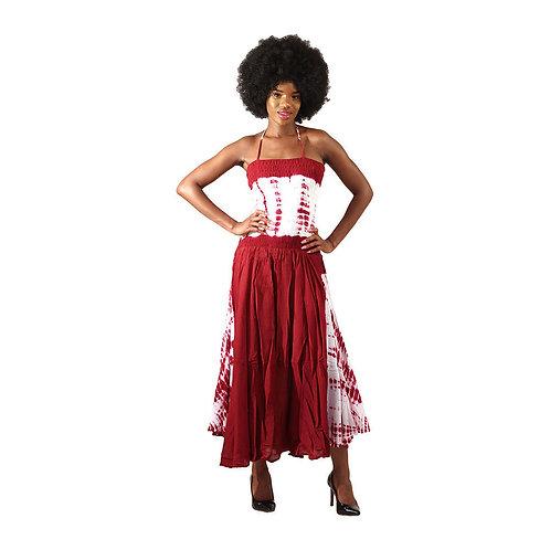 Red Tie Dye strap dress