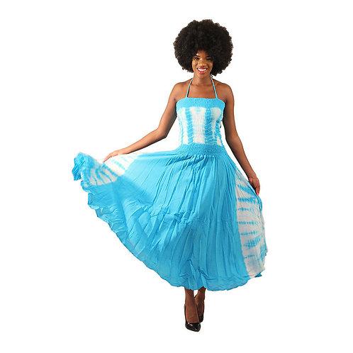 Light blue Tie Dye strap dress