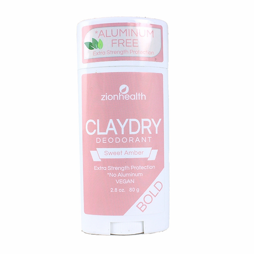 Natural claydry deodorant- sweet amber