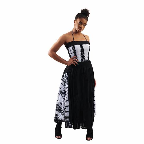 Black Tie Dye strap dress