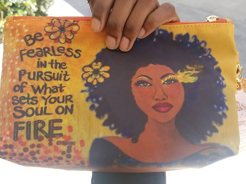 Be fearless cosmetic bag