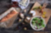 Salat mit Baguette
