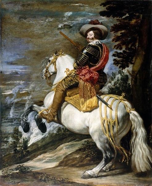 Портрет всадника, белая лошадь