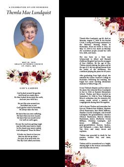 Half Sheet Obituary