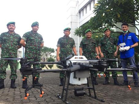 Drone Spraying Desinfektan COVID-19 Bersama TNI Dan FASI