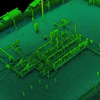 Gas Well Head - LIDAR As Built 3D Scan